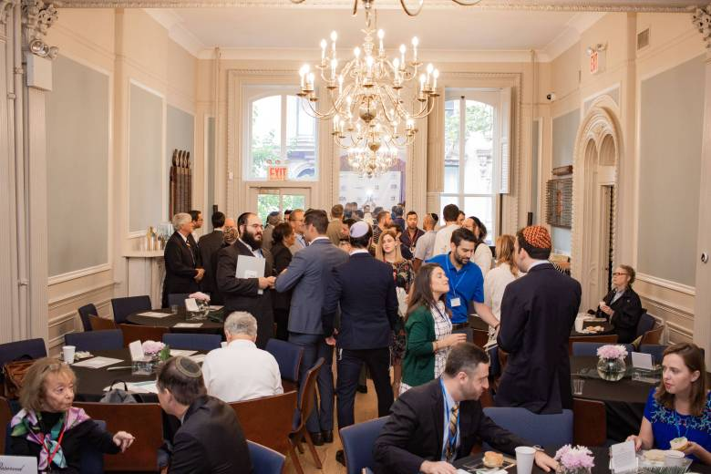 Approximate 100 young Jewish professionals attended the bi-monthly networking event.