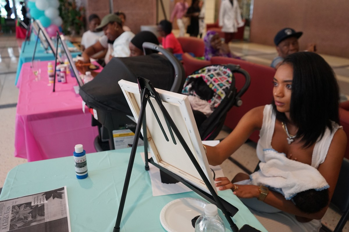 The community gathering provided expectant and new mothers with information about the many health benefits of breastfeeding.