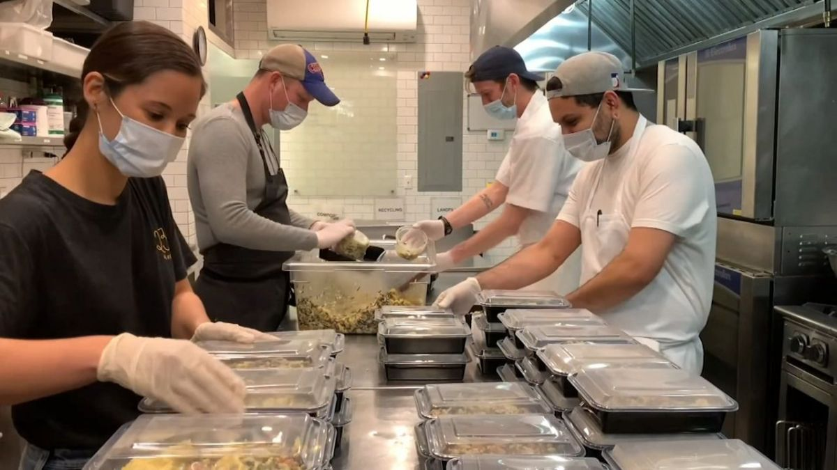 Brooklyn Eatery Becomes a Food Bank for Hard-Hit Industry