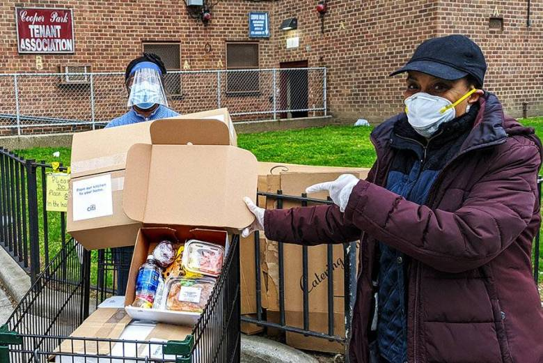 St. Nicks Alliance, food delivery, COVID-19, Brooklyn, elderly residents