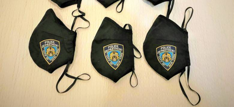 Every Brooklyn officer will be getting a NYPD mask thanks to 5MMASK. Photo: Zam Barrett.