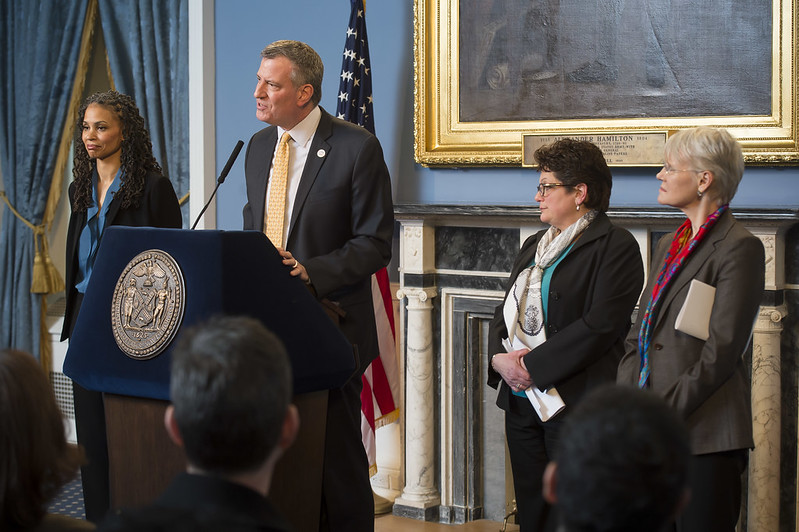 Mayor Bill de Blasio; NYPD; Youth Services; Budget Cuts; Protesting