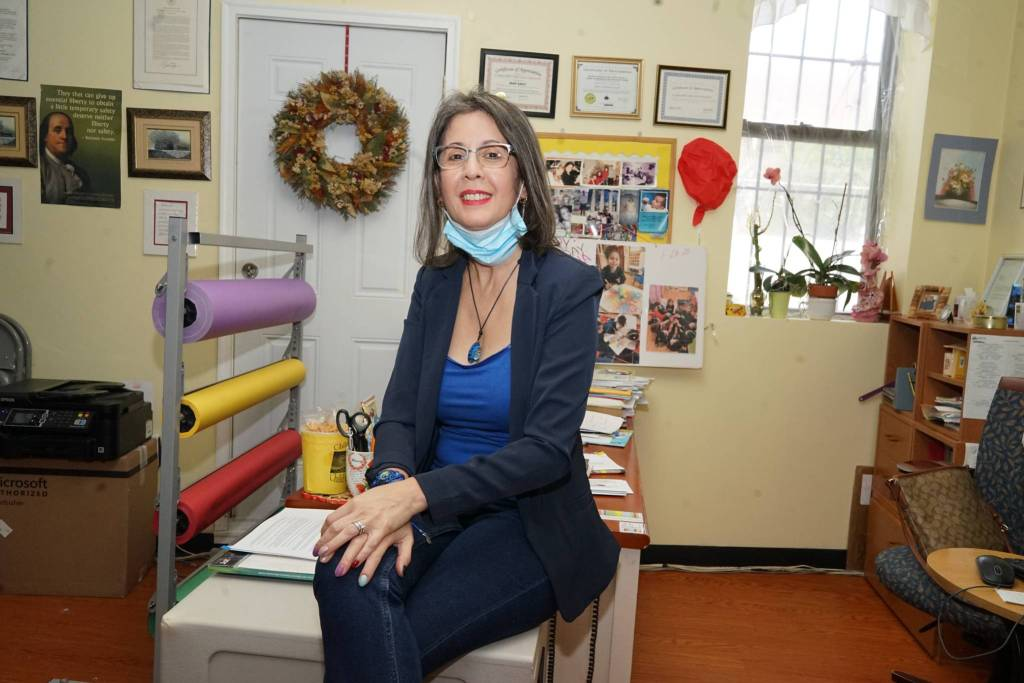 CHCCC education director Mildred Badillo is designing remote lesson plans for small children. Photo by Russell Frederick.
