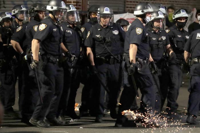 Police Swept Through A Brooklyn Neighborhood In Riot Gear Because People Were Setting Off Fireworks