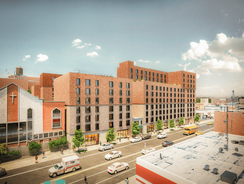 Renderings of Utica Crescent. Photo from NYC Gov.