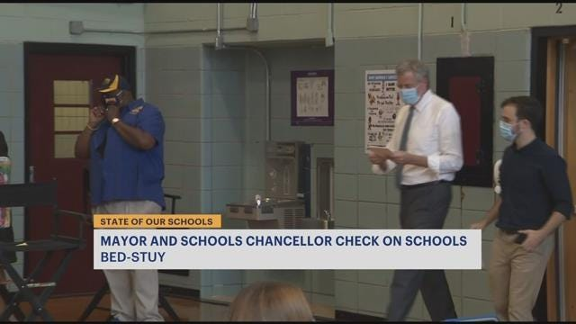State of Our Schools: Mayor, schools chancellor tour P.S. 59 in Bed-Stuy