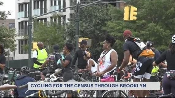Cyclists ride around Brooklyn to get word out about completing the census