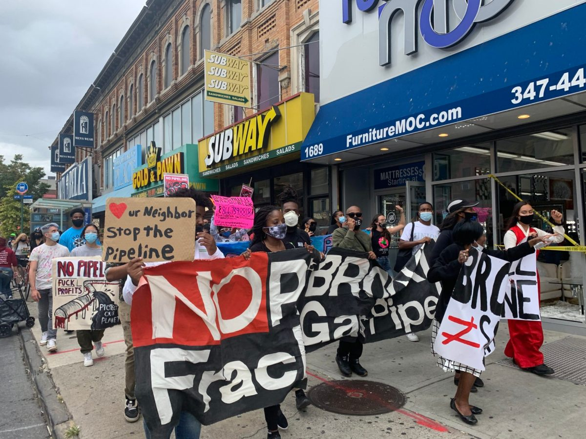"""""""Brownsville is not a sacrifice zone,"""" Activists Cry At Protest Against North Brooklyn Pipeline"""