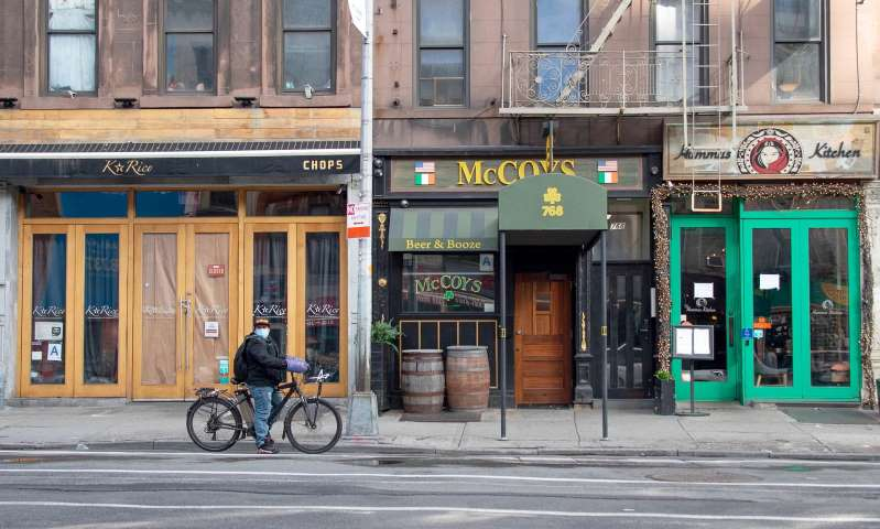 Half of NYC'S 24,000 bars and restaurants could close for good