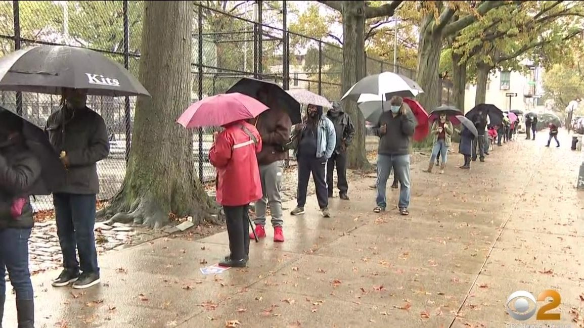Long Lines At Polling Places Persist On Day 6 Of Early Voting In New York City