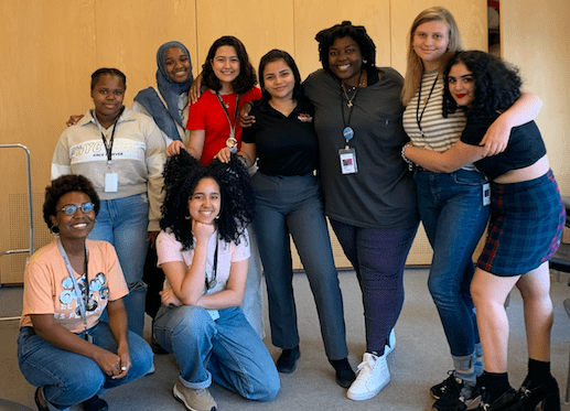 Laura Rendon Albarracin with her Whitney Youth Insights cohort. Photo: Provided.