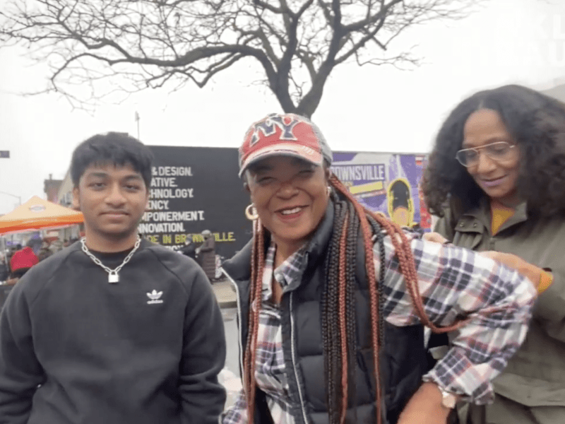Brooklyn Sauce, Michelline Chassagne, Ayan Rahman, City Point Mall, wine store, Bedford Stuyvesant, Brownsville, Seeds in the Middle, Yiddish NY, food giveaway, clothing giveaway