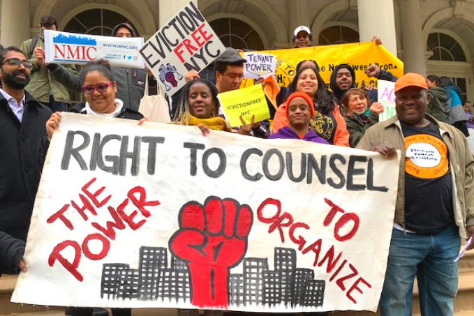 With evictions looming, advocates urge NYC to accelerate universal right to counsel
