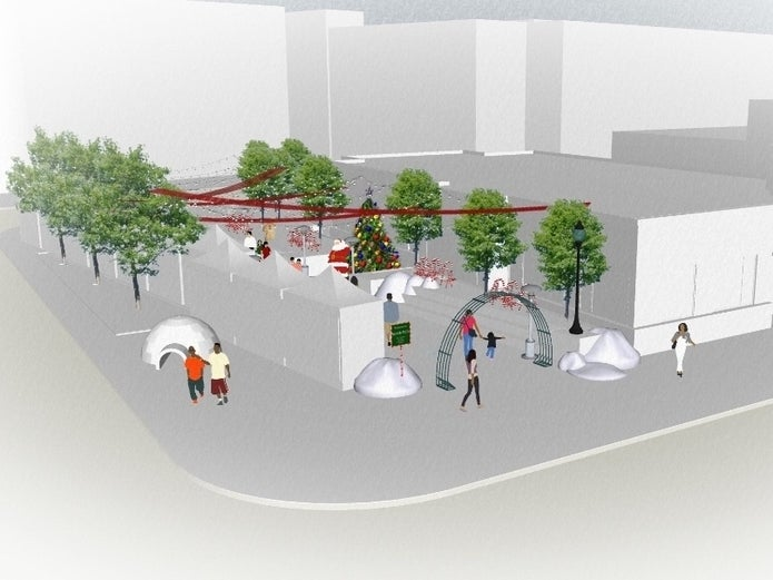 'Winter Wonderland' Opens In Bed-Stuy's Marcy Plaza For Holidays