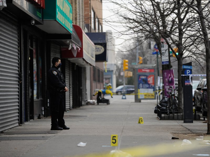 Bullets fly in Brooklyn in two shootings that left man dead and woman injured