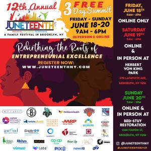 12th Annual NYC Juneteenth Family Festival Integrates In-Person and Virtual Experience over 3-Day Event