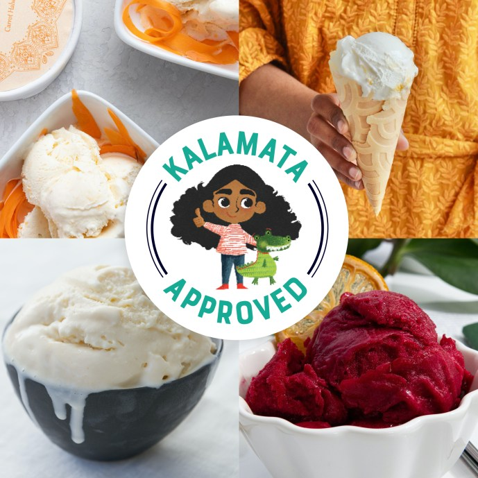 Scrumptious Indian flavors like Carrot Halwa, Mango and Cream, Sweet Milk and Hibiscus Chaat Masala are Kalamata approved. Photo: provided.