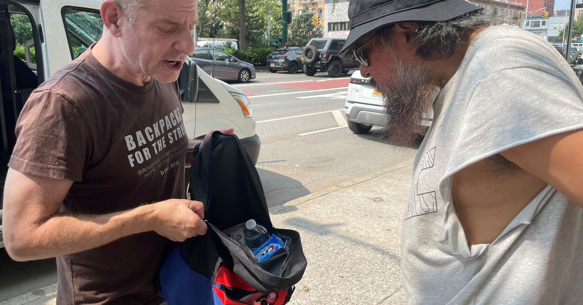 A little goes a long way: Backpacks with essentials go to New York's homeless