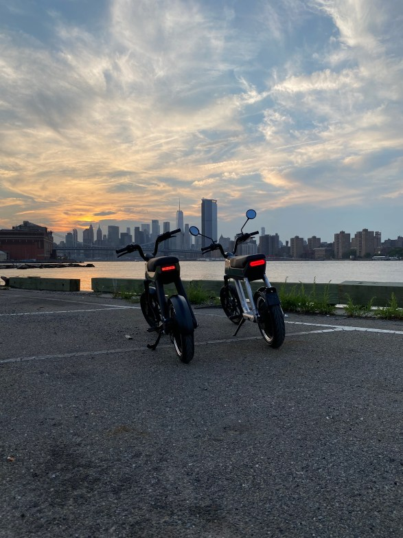 """""""People love the bike. They don't expect such a small vehicle to have that much power, be that quiet and be that fun to ride,"""" Nagel said. Photo: Pave Motors."""