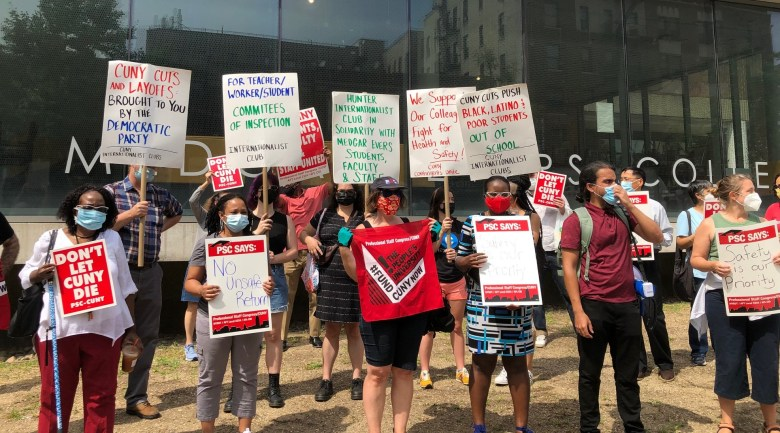 MEC faculty & staff protest COVID conditions