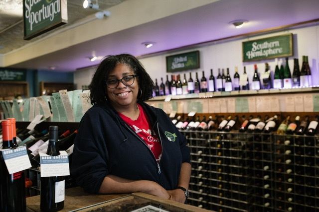 Bed-Stuy resident and sommelier Michele J. Thomas is decolonizing the wine industry. Photo: Aundre Larrow.