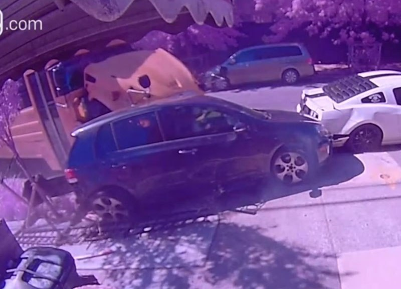 Caught On Camera: Stolen School Bus Crashes Into Cars In Brooklyn