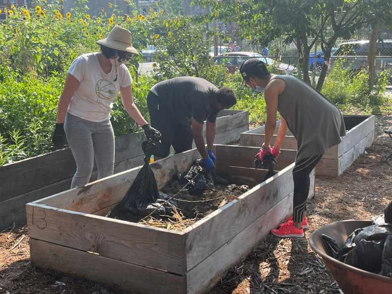 Revitalizing garden beds with compost from BK Rot. Photo: provided.