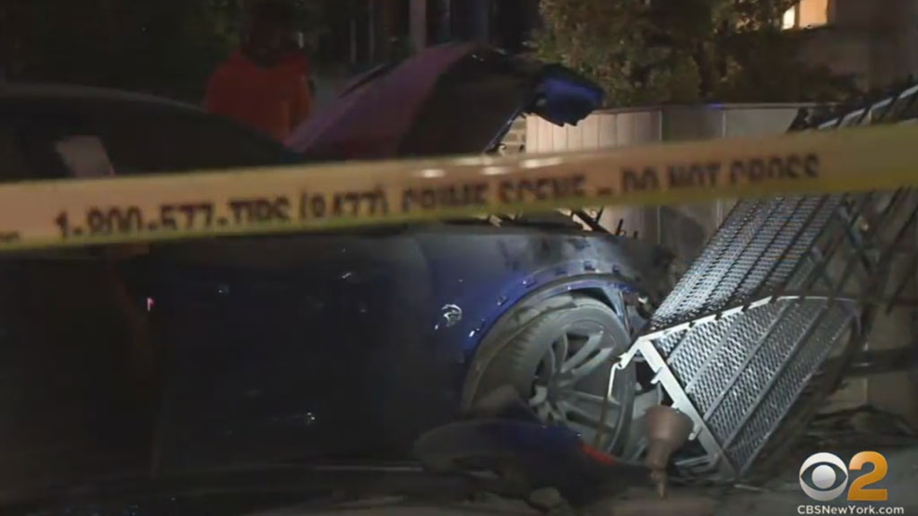 Car Crashes Into Brooklyn Funeral Home, Police Say Driver May Have Been Involved In Carjacking