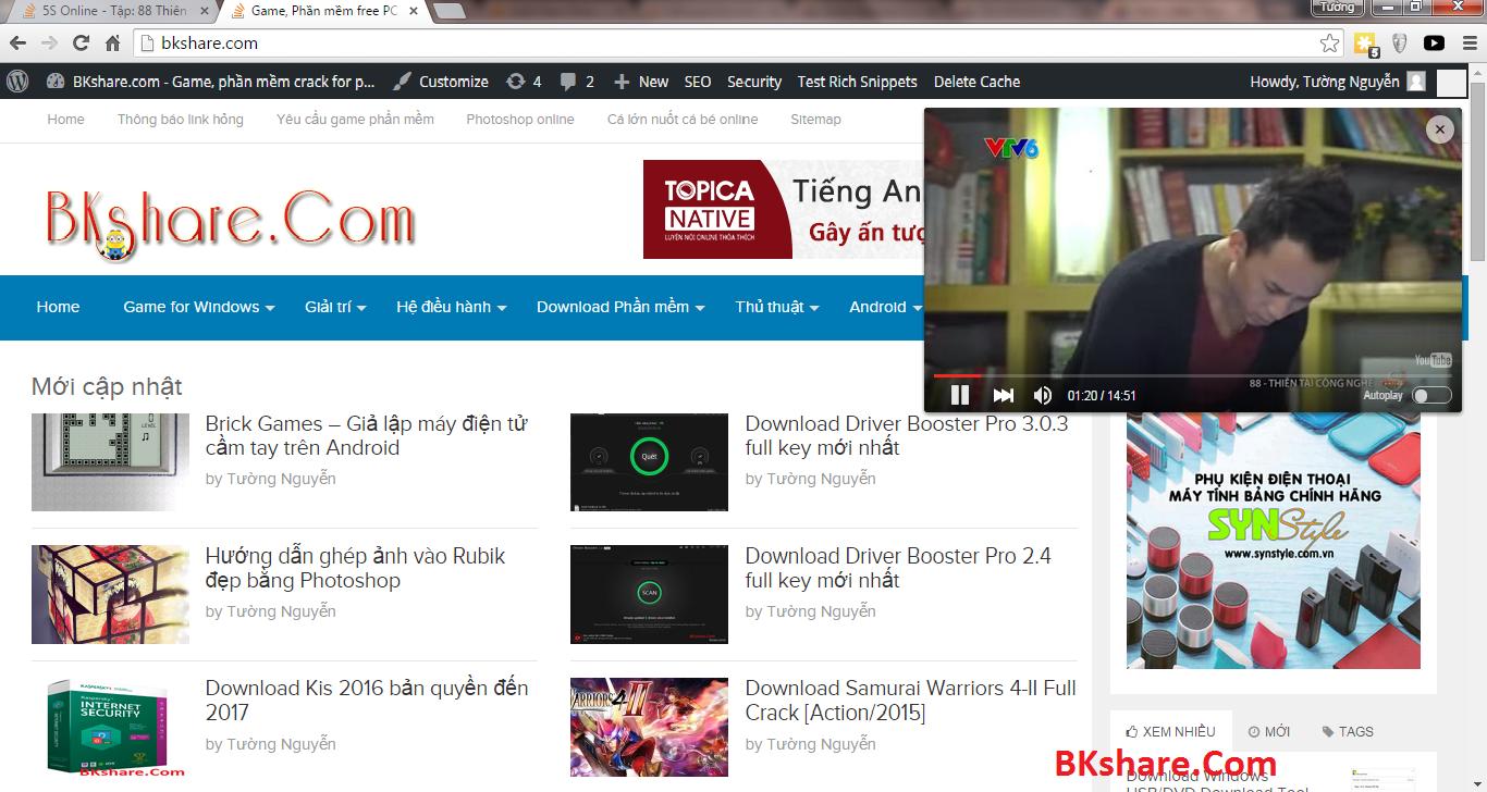 Xem video Youtube dưới dạng Pop-up trên Chrome