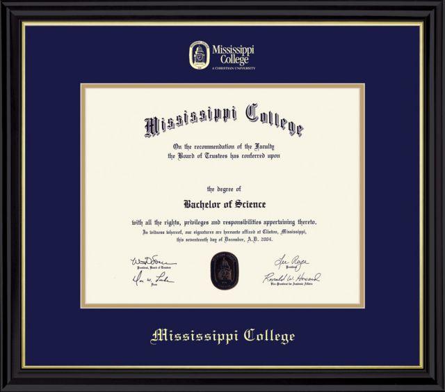 mississippi college diploma frame