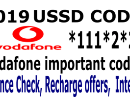 Vodafone ussd codes 2019