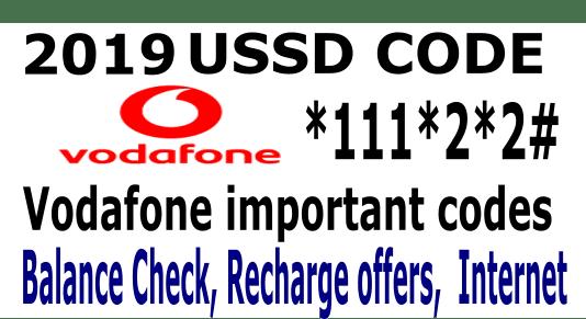 Vodafone ussd codes 2019