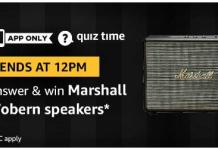 amazon quiz 17 august Marshall Speakers