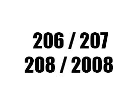 Πατάκια για Peugeot 206 / 207 / 2008 / 208