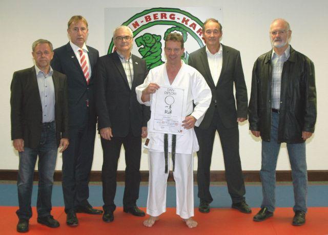 Zum Bild: (von links):  Bernhard Milner, Rainer Katteluhn, Roland Lowinger, Andreas Seiler, Günter Mohr und Klaus Sterba.