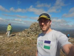 On the summit of Meall a' Bhuachaille.