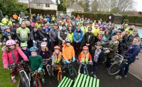 Joining cycle campaigners calling for a better cycle network in and around Inverness in April's Pedal on Parliament ride. (SPP)