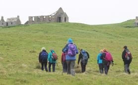 Walkers on a trip to the now uninhabited island of Stroma in the Pentland Firth. (Alan Hendry)