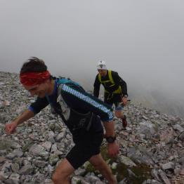 Jonny Muir climbing Stob Choire Claurigh on Ramsay's Round. Picture: Mark Hartree