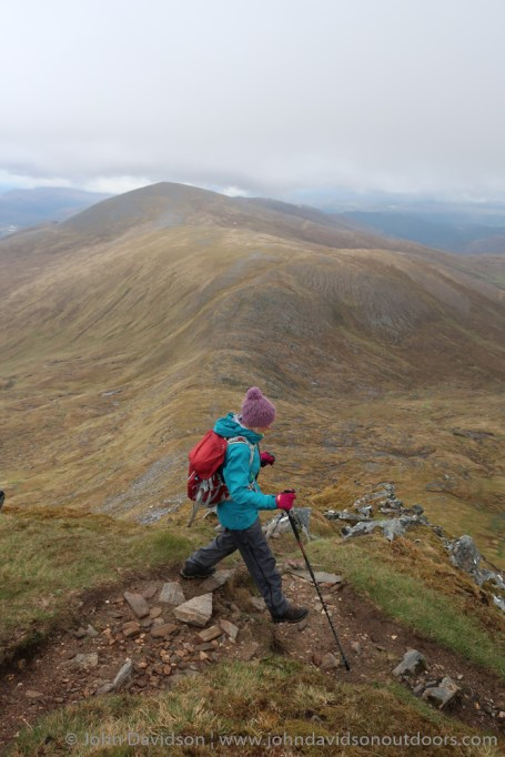 On the descent from Tom a' Choinich.