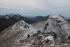 The Beinn Eighe ridge and Liathach beyond.
