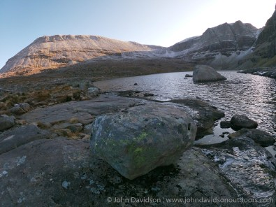 Ruadh-stac Mor and the Triple Buttress from Loch Coire Mhic Fhearchair.