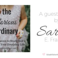 The Glorious Ordinary (a Guest Post by Sarah E. Frazer)