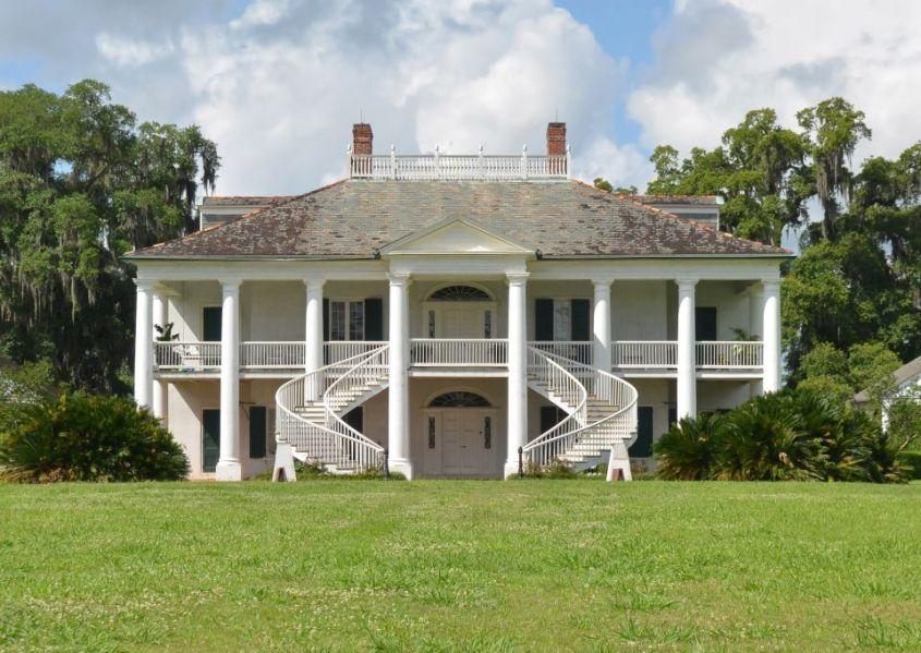 La maison d'Evergreen Plantation à la Nouvelle-Orléans