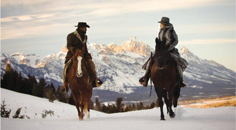 Django et Schultz à cheval dans le Wyoming