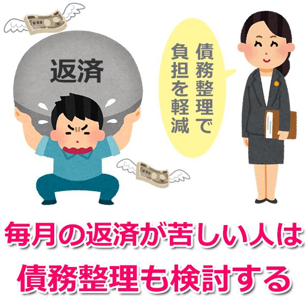 長期延滞の人は債務整理も検討する