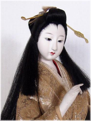Japanese antique Noble Lady doll 1920s Japanese Kimono