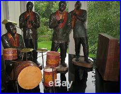 Antique Hand Painted Black Americana Jazz Band Figure