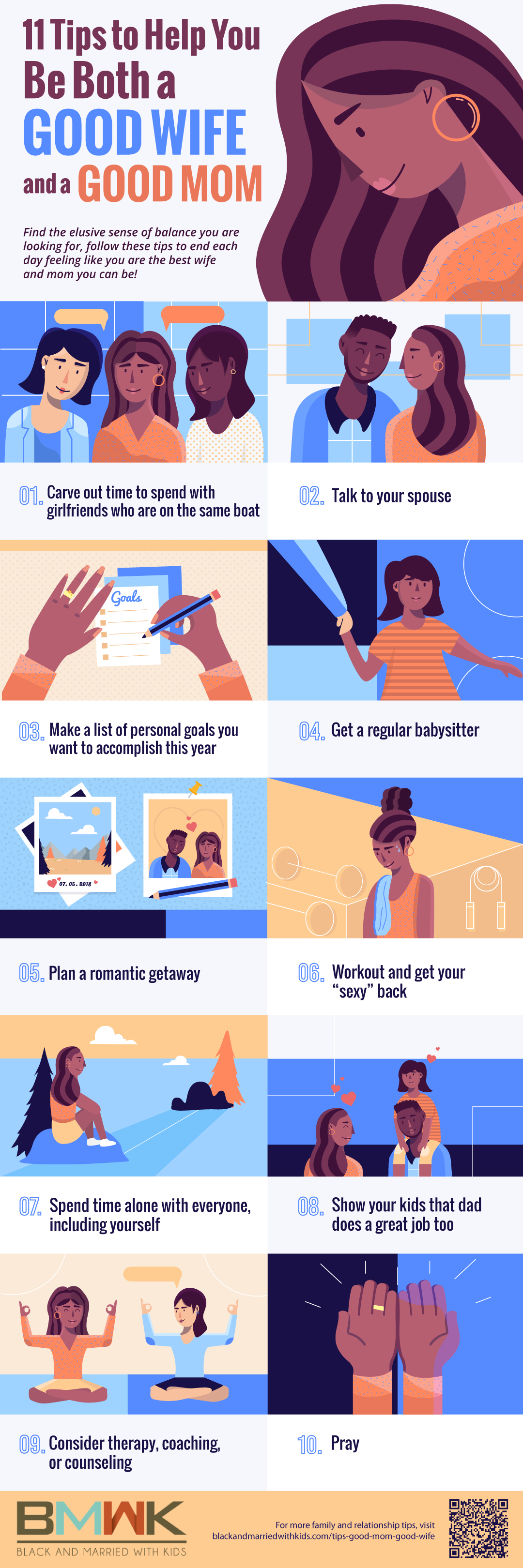 infographic | Tips to Help You Be Both a Good Mom and a Good Wife | How to be a Good Mom