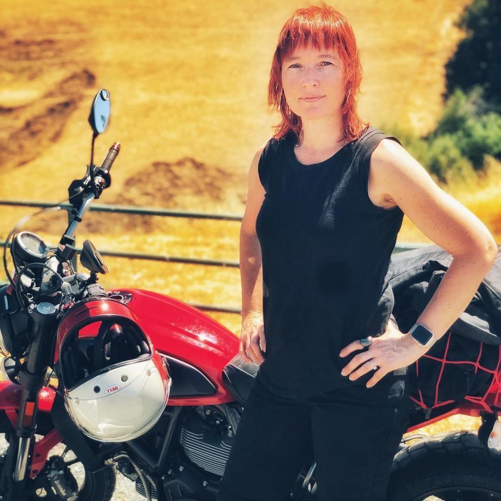 Melinda Epler Ducati Scrambler